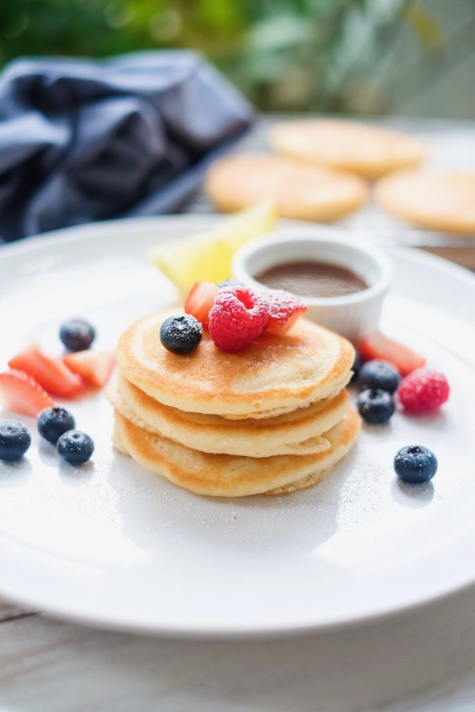 Grain Free Pancakes and Waffles on a plate