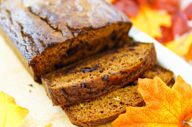 Pumpkin Spiced Choc-Chunk Bread