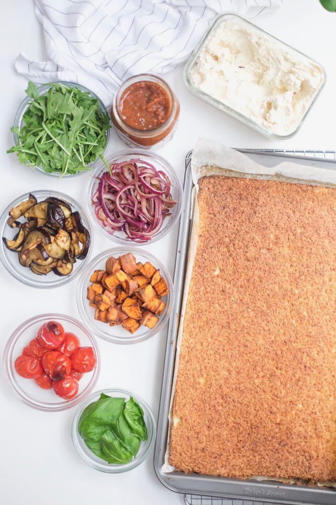 Caulicrust Pizza ingredients