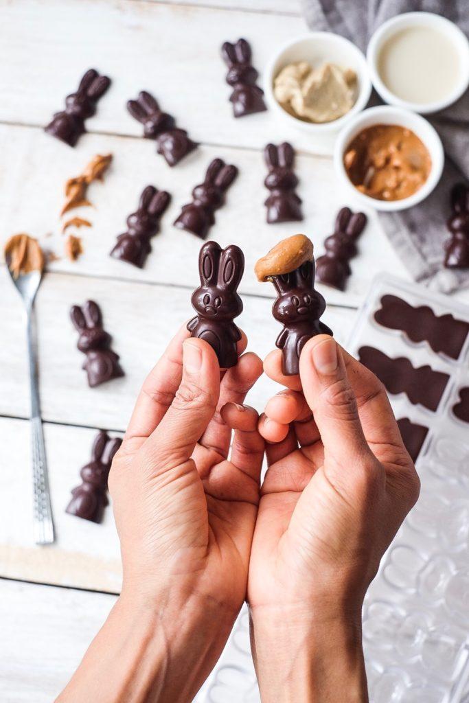 Sugar Free Raw Dark Chocolate bunnies