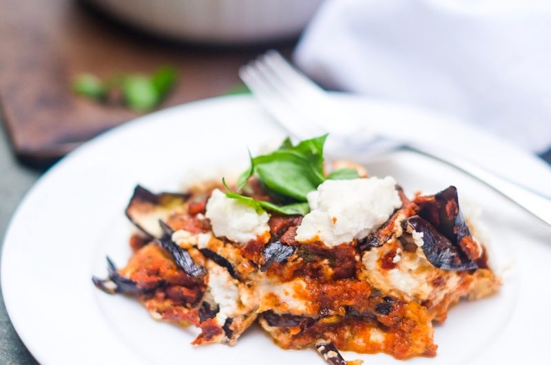 Eggplant 'Ricotta' Lasagna