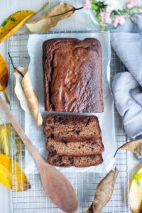 Pumpkin Spiced Choc-Chunk Bread