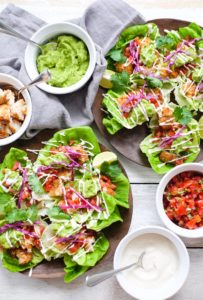 Fish Tacos Wrapped In Butter Lettuce
