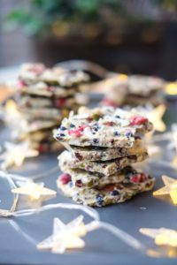 White Chocolate Balance Bark stacked