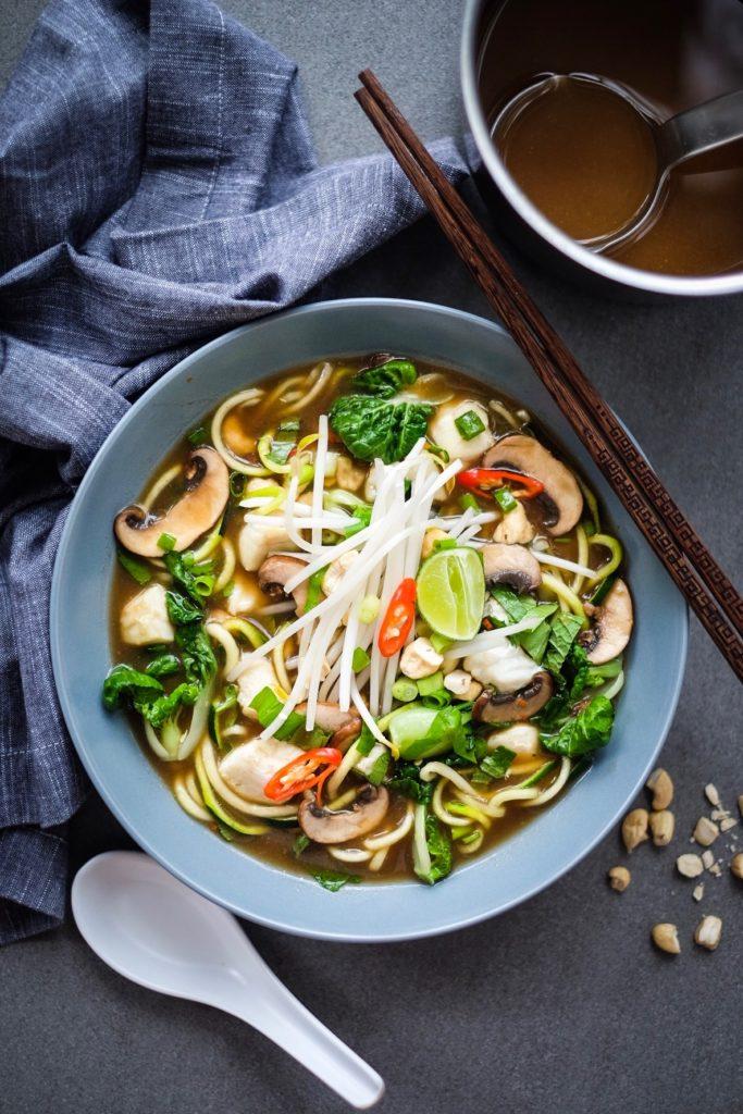 Vietnamese Veggie Zoodle Fish Pho ('Fuh') Soup