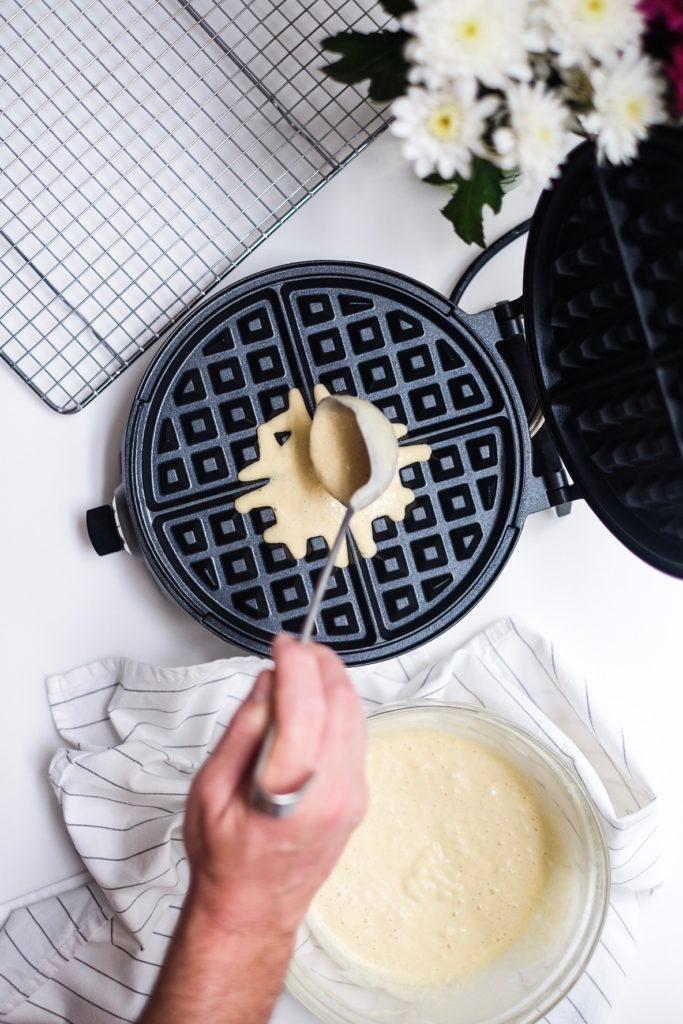 Waffles On Sunday poured