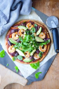 Chili Garlic Prawn Pizza