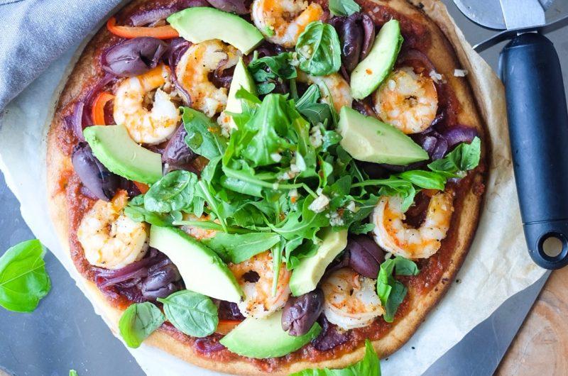 Chili Garlic Prawn Pizza
