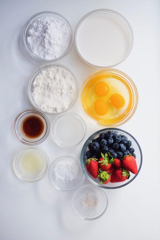 Grain Free Pancakes and Waffle Ingredients