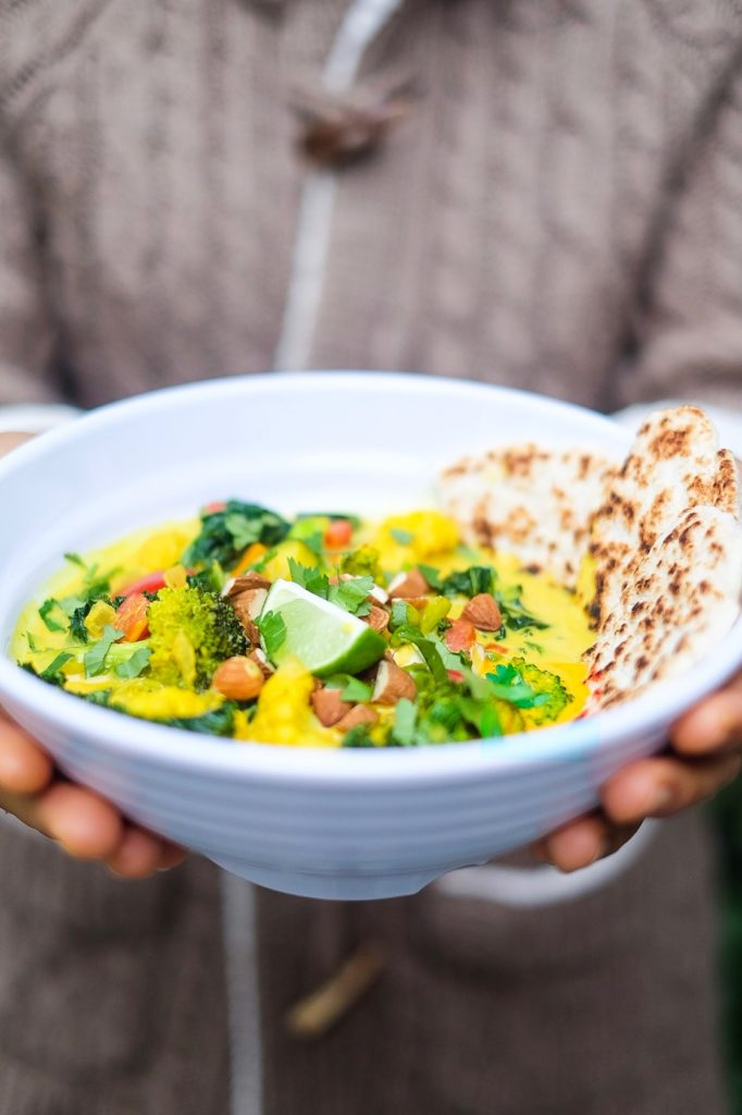 Yellow Vegetable Curry with Chapati