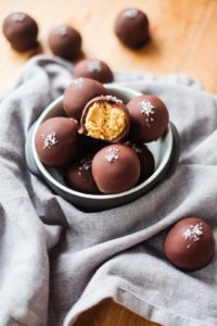 Salted Chocolate Peanut Butter Bonbons
