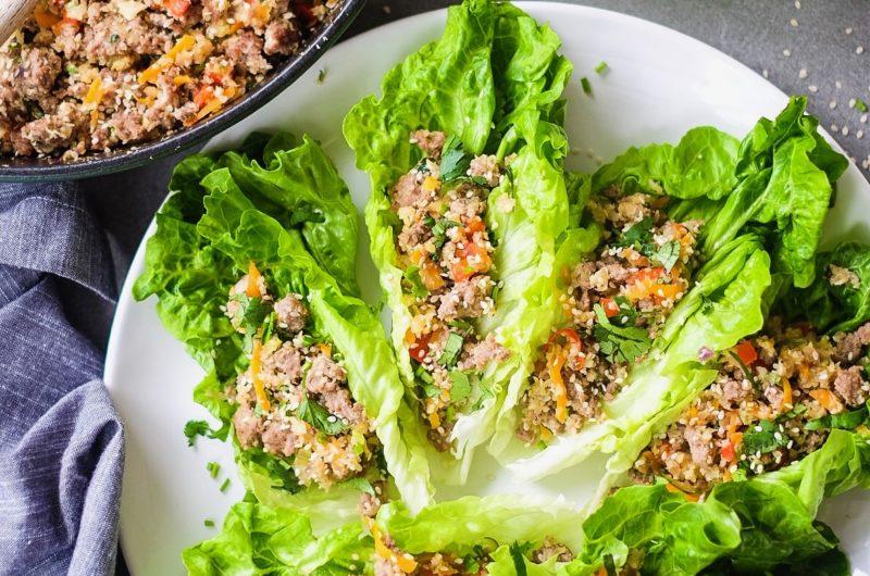 Lettuce Wrapped San Choy Bow with Cauli-Rice