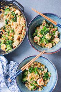 Shrimp Veggie Cauli-Rice Stir Fry
