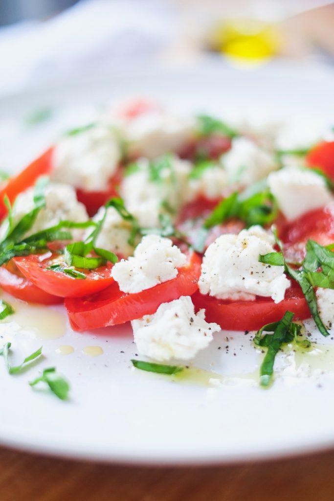Caprese Salad up close
