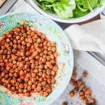 Crispy Spiced Chickpea Croutons