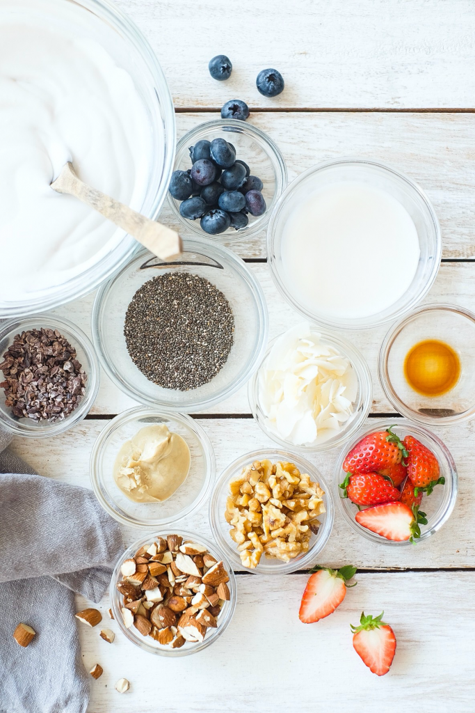 Coconut Yoghurt Chia Pudding Nutty Berry Parfait ingredients
