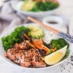 Grilled Salmon Teriyaki Buddha Bowls
