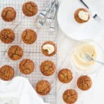 Carrot Cake Muffins with Whipped Lemon-Coco frosting