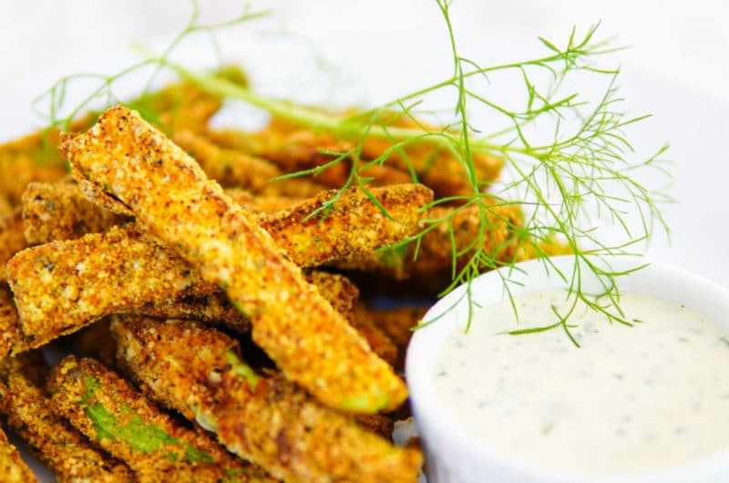Breaded Zucchini Fries with Lemon Dill Aioli