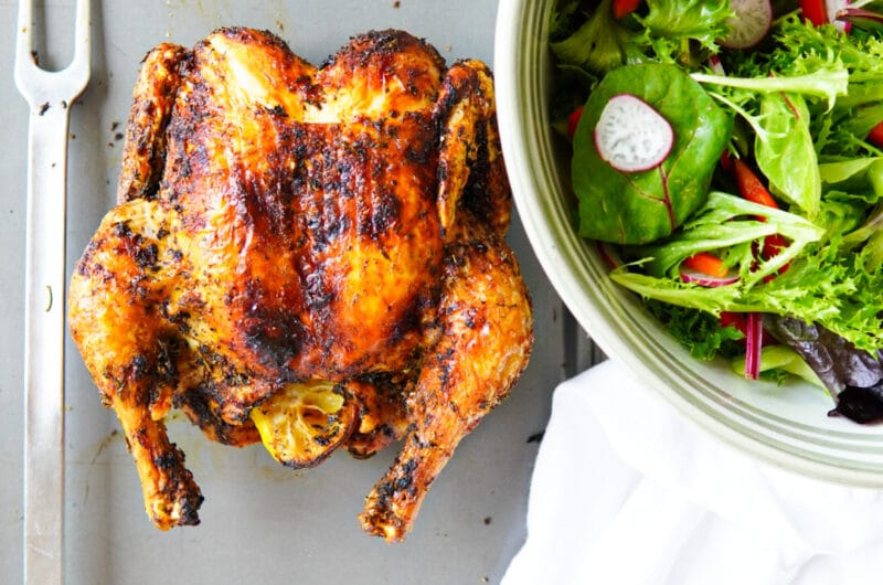 Roasted Whole Herbed Chicken